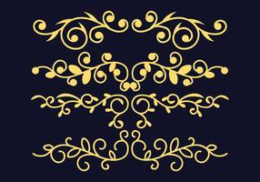 Dekorative Verzierungen eingestellt vektor