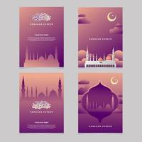 Ramadan Grußkarte vektor