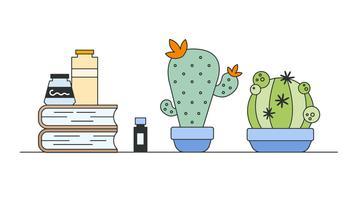 Kaktus Anbau Vektor