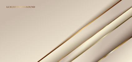 abstrakt elegant diagonalt guld ränder överlappande lager med skugga på gyllene bakgrund vektor