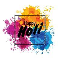 Holi Frühlingsfest der Farben Vektor Design-Element und Zeichen Holi