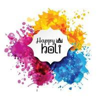 holi vårfestival med färger vektor designelement och tecken