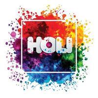 holi vårfestival med färger vektor designelement och tecken holi