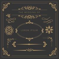 Hochzeits-Elemente-Sammlung vektor