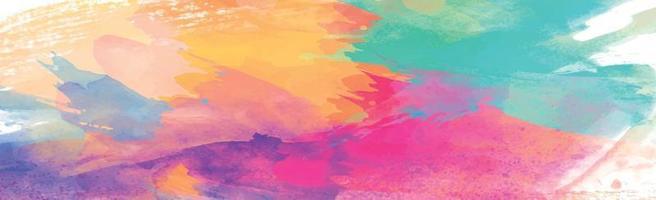 panorama textur av realistiska flerfärgad akvarell på en vit bakgrund - vektor