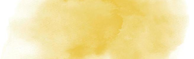 realistische gelb-orange Aquarellpanoramabeschaffenheit auf einem weißen Hintergrund - Vektor