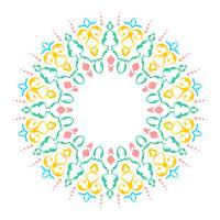Mandala-dekorative Verzierungs-weißer Hintergrund-Vektor