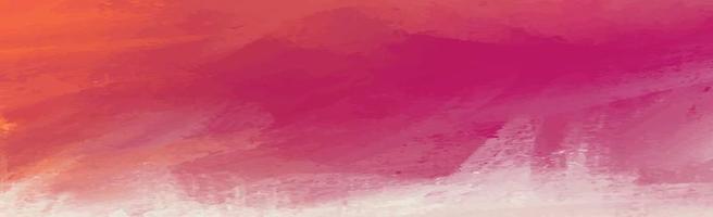 panorama textur av realistiska röda akvarell på en vit bakgrund - vektor