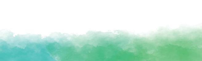 panorama textur av realistisk grön akvarell på en vit bakgrund - vektor