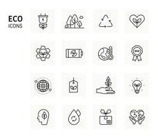grön energi ikoner för jorden. minimal vektorillustration.