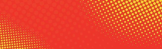 panorama röd komisk zoom med linjer - vektor