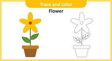 Spur und Farbe Blume vektor