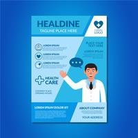 Hälsosam broschyr Clip Art vektor