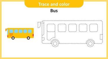 Spuren- und Farbbus vektor