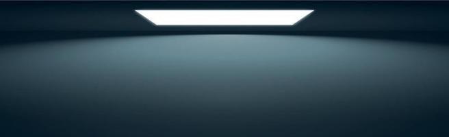 blå panoramastudiobakgrund med vitt sken vektor