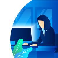Geschäftsfrau-Arbeit vektor