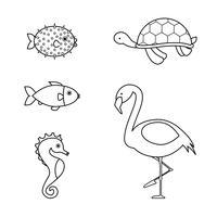 Malbuch Tiere vektor