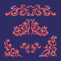 Damaskblommor med arabiska dekorativa ornament vektor