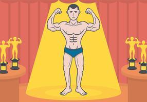 Bodybuilder-Vektor-Illustration vektor
