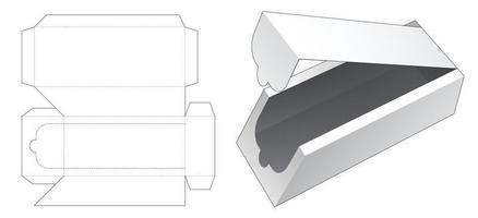 abgeschrägte Reißverschluss lange Box gestanzte Vorlage vektor