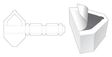 Reißverschluss rautenförmige Box gestanzte Vorlage vektor