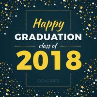 Fantastischer Hintergrund der Klassen-2018 zur Abschlussball-Partei vektor
