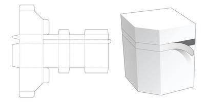 Reißverschluss abgeschrägte Eckbox gestanzte Schablone vektor