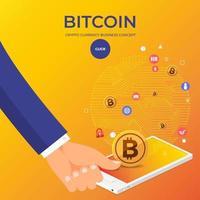platt designkoncept bitcoin kryptovaluta