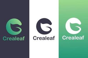 Buchstabe c Logo Kombination mit Blättern, Naturlogokonzept. vektor