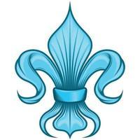 Liz Blume Vektor Design, Symbol in der mittelalterlichen Heraldik verwendet.