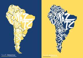 modern sydamerika karta vektor design