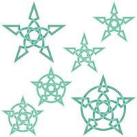 ineinandergreifendes Sternendesign im keltischen Stil vektor