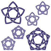Illustration des ineinander verschlungenen Sterns im keltischen Stil vektor