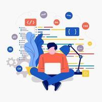 utvecklare som arbetar med kod