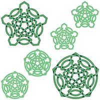 ineinandergreifendes fünfzackiges Sterndesign im keltischen Stil vektor
