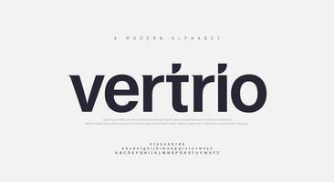 abstrakte moderne städtische Alphabetschriftarten vektor