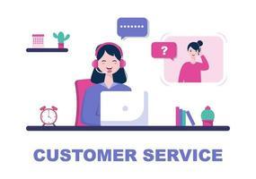 Kontakta oss kundtjänst för personlig assistent, personrådgivare och sociala medier. vektor illustration
