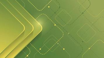 abstrakter geometrischer Hintergrund mit grünem Farbverlaufsquadrat auf grünem Hintergrund vektor