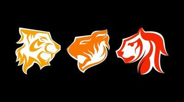 Tiger Logo Set Vektor
