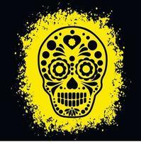 helig död, dödens dag, mexikansk sockerskalle, t-skjortor för grunge vintage design vektor