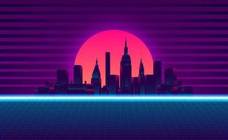 retro vintage 80-tal tonad neonfärg bakgrund vektor