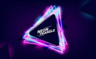 neon triangel glöd färg bakgrund vektor
