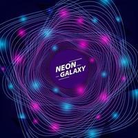 abstrakt neonfärg galax bakgrundsmall vektor