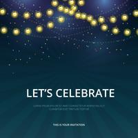 Celebration Parade Inbjudningsmall. vektor