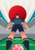 Japan World Cup Fußballspieler vektor
