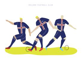 Irland VM Fotbollsspelare Falt Vektor Karaktär Illustration