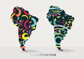 Modernes Südamerika-Karten-Vektor-Design vektor