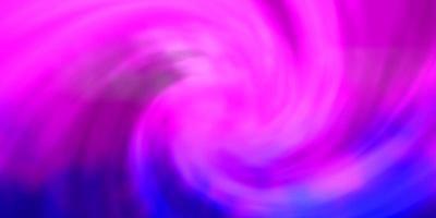 hellrosa, blaues Vektorlayout mit Wolkenlandschaft. vektor