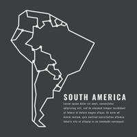 Skisserad Sydamerika kontinent vektor