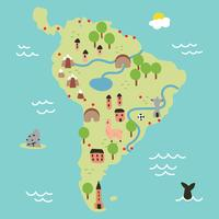 Super bunte Karte von Südamerika vektor